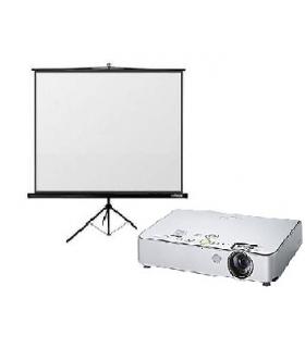 Videoprojektora kopā ar 180x180cm ekrānu noma*
